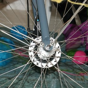 Urban Knitting - fahrradwoche 4.12 / Foto: wscher