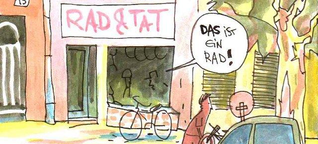 Kiezladen / Zeichnnung: Joel Cairo / www.fahrradjournal.de
