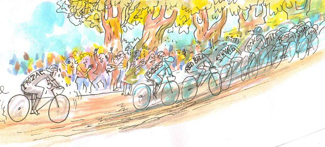Specials und Blogs zur Tour de France / Zeichnung; Joel Cairo / www.fahrradjournal.de