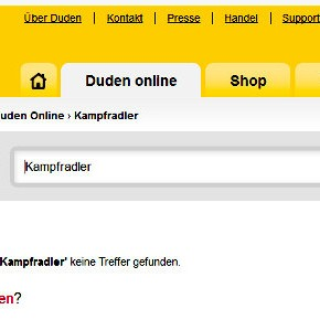 Screenshot: www.duden.de