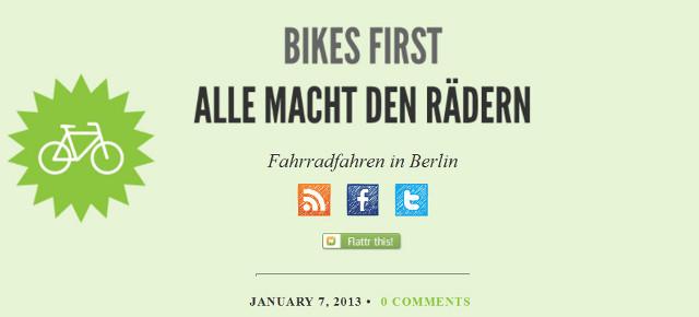 Lasst euch umarmen, liebe Fahrradblogger!
